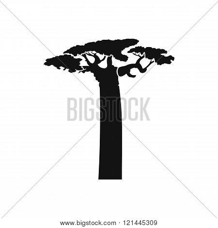 Baobab tree icon, simple style