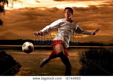 a soccer player