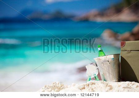 Picnic On Tropical Beach