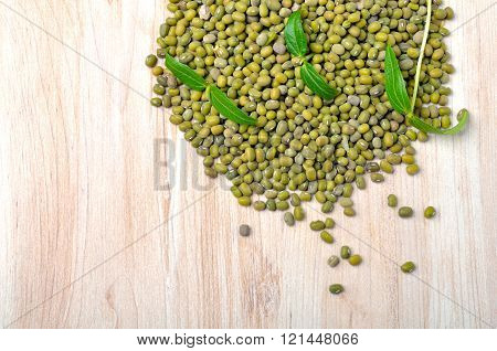 Mung Beans In A Sack.