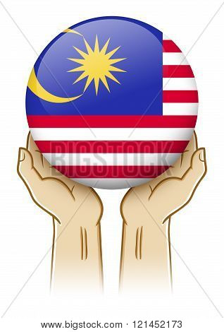 Pray For Malaysia Illustration