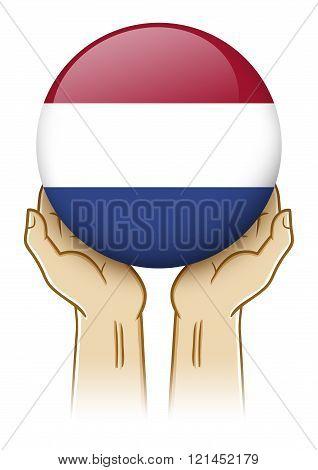 Pray For Netherlands Illustration