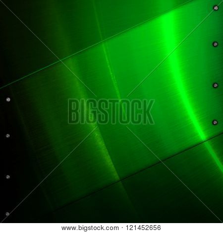 green metal template background
