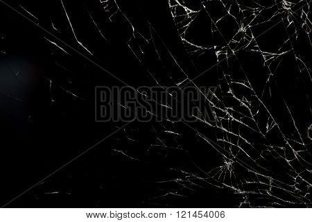 Broken Glass On Black