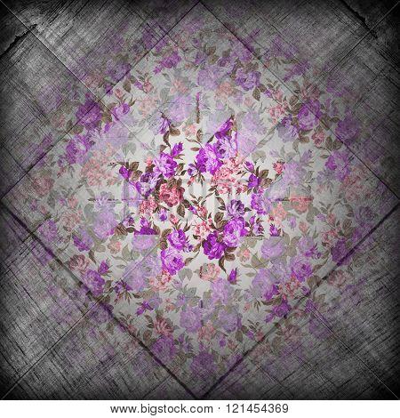 Grunge Flower Retro Background