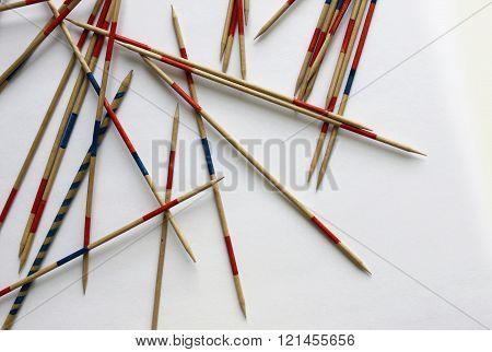 mikado sticks game play luck random wooden