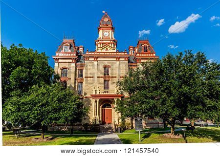 The Beautiful and Ornate Caldwell County Courthouse in Lockhart, Texas.  Built in 1894.