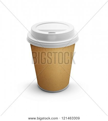 Take-out coffee in thermo cup -Clipping Path