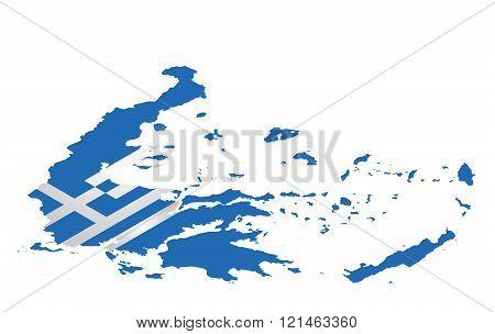 Isometric Greece Flag