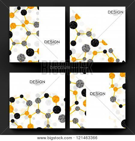 DNA molecule vector brochure template. Flyer Layout