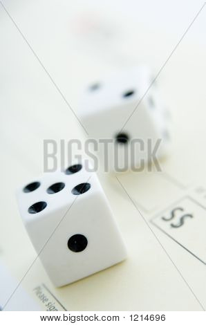 Dice On Cheque