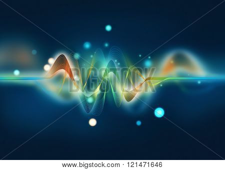 Colorful Digital Wave