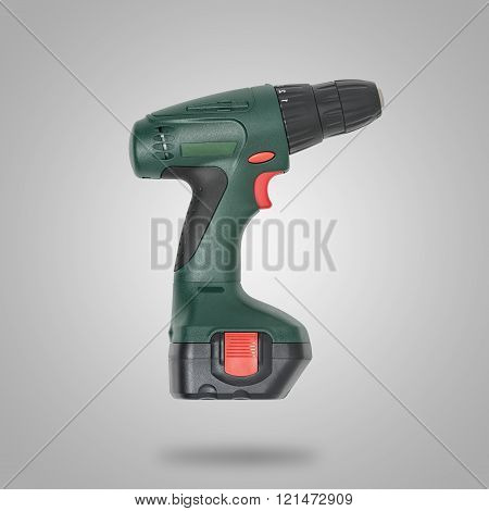 Green drill on gray background like icon
