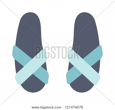 Beach sneakers summer travel lifestyle fashion shoes illustration.