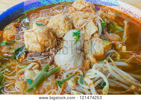 Meat Noodle In A Bowl