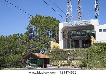 At the upper cable car station Dalat. Vietnam