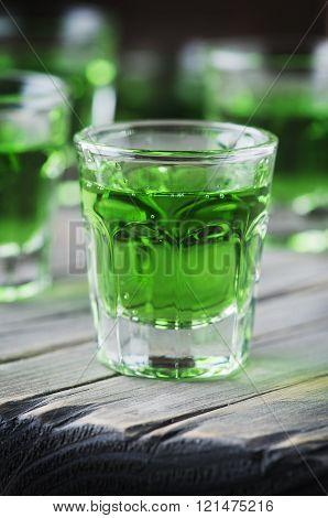 Green Sweet Cocktai With Terragonl