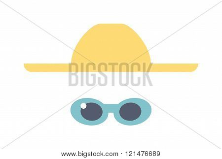 Fashion summer clothes vector look.