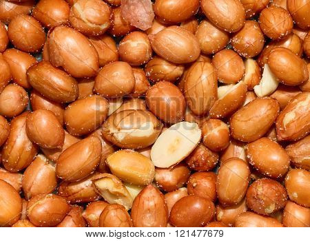 Stack Of Unshelled Peanuts, Salted