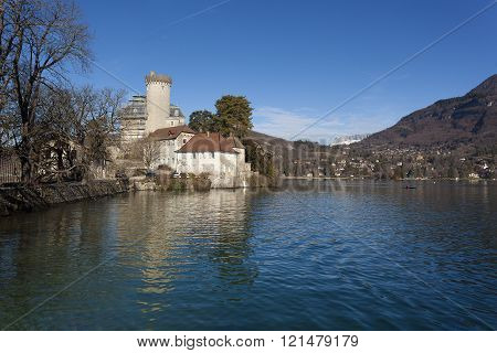 Castle of Duingt Annecy lake Haute-Savoie Rhone-Alpes France