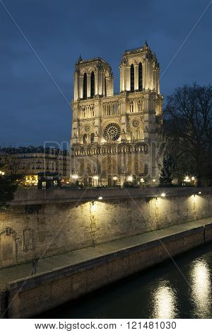 Notre dame Cathedral Paris Ile de France France