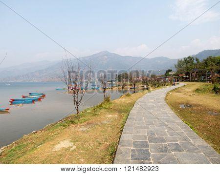 Pathway Beside Lake