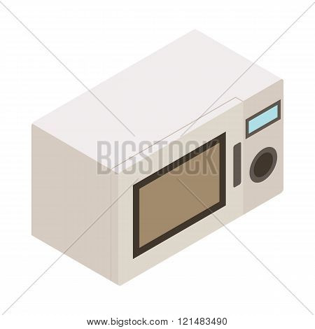 Microwave icon, isometric 3d style
