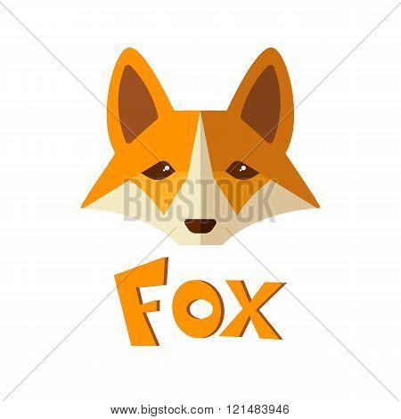 Flat Icon, Cute Fox