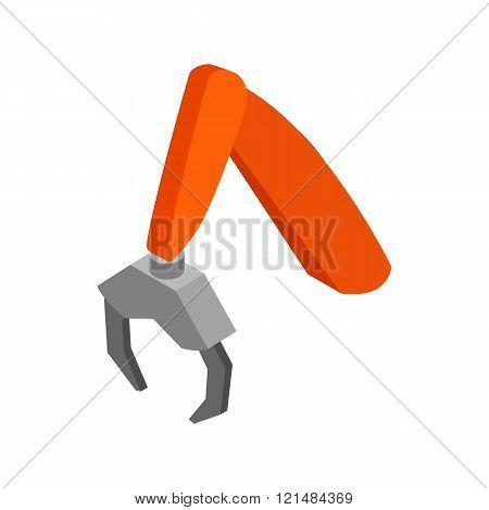 Logger manipulator icon, isometric 3d style
