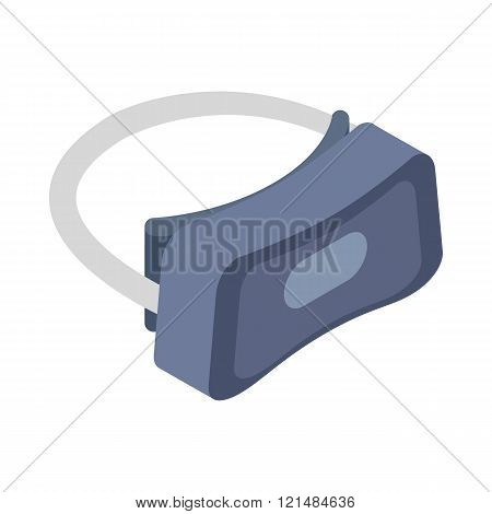 Virtual reality headset icon, isometric 3d style