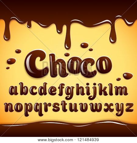 Alphabet Made Of Dark Chocolate