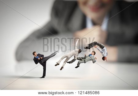 Business fight as competion concept