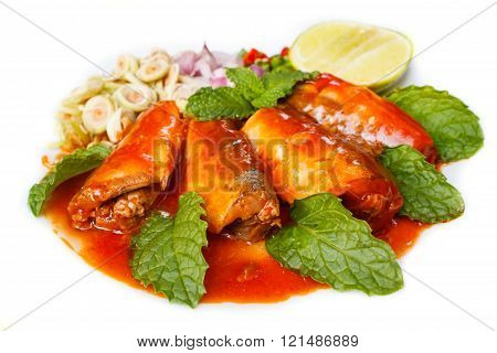 Spicy Sardines In Tomato Sauce Canned Fish.