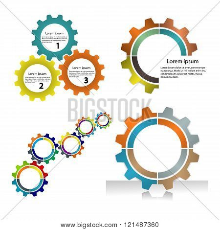 Meshing Gear On White Background,industrial Driving.business And Industrial Concept.