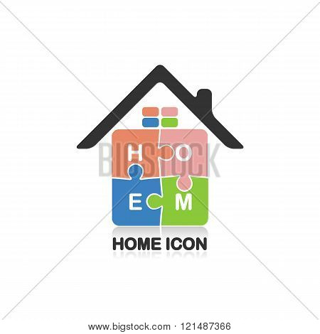 Real Estate Logo,creative House Logo,abstract Buildings Logo,puzzle Home Symbol,home Icon