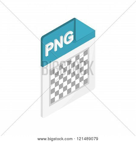 PNG image file extension icon, isometric 3d style