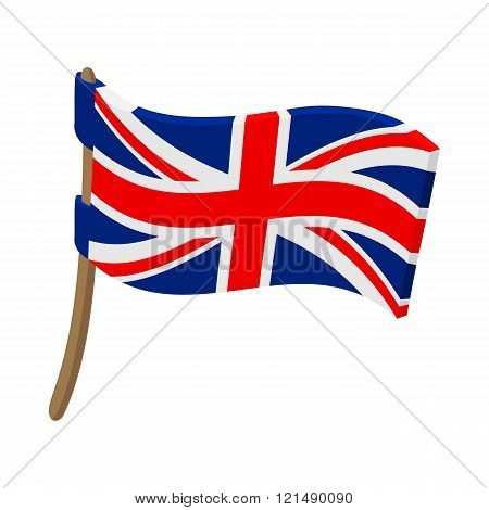 Great Britain flag with flagpole icon