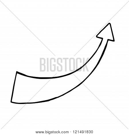 Hand drawn arrow vector doodle objec. isolated sign