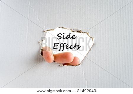 Side effects text concept isolated over white background