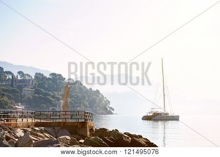 Santa Margherita Ligure , Italy, Panoramic Sea View