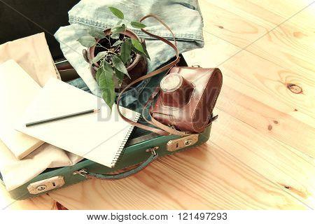 Retro Traveler Baggage