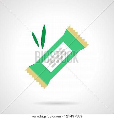 Vegan candy flat color design vector icon