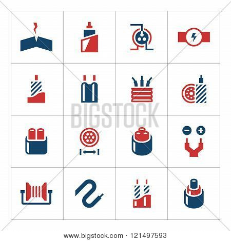 Set color icons of cables and wires