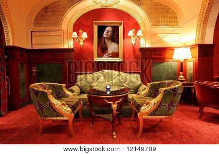 interior of a luxury hotel