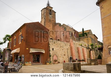 Village Of Roussillon In The Provence