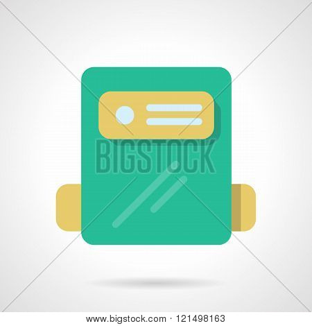 Power counter flat color design vector icon