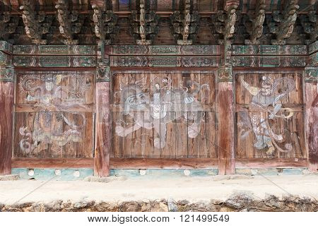 Mural Paintings At Bogwangsa Temple