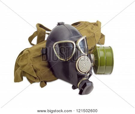 Gas Mask And A Cloth Bag For Him