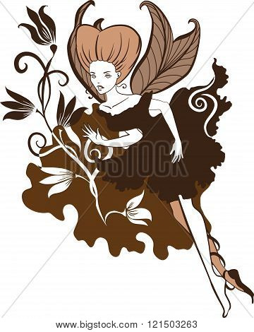Chocolate Fairy vector illustartion