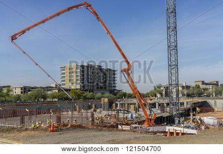 Optima Kierland, Scottsdale, AZ,USA  03-07-16  Development of luxury condos begins close to popular shopping area.